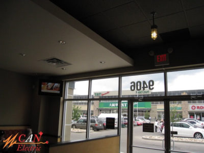 restaurant lighting Edmonton