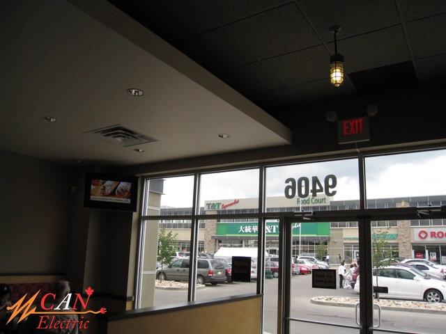 restaurant lighting Edmonton