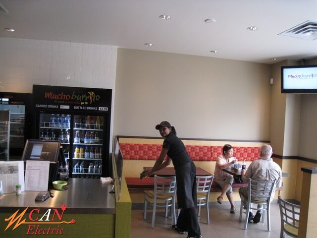 coffee shop lighting