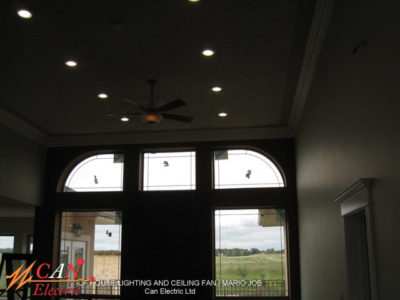 house lighting and ceiling fan