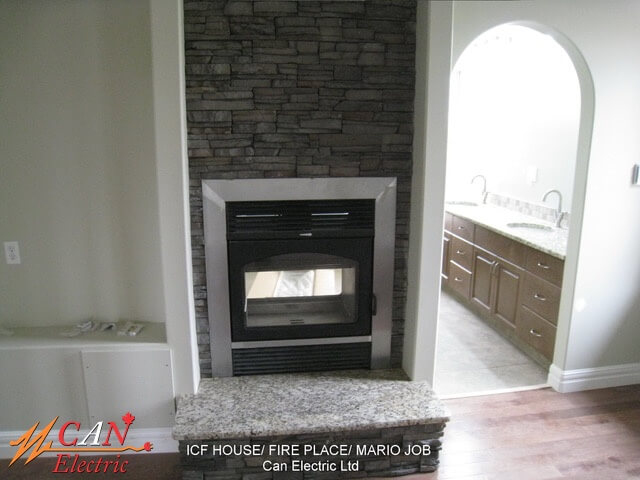fire place wiring