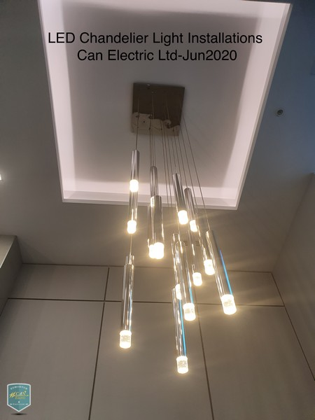 led chandelier light installations can electric