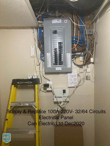 supply and replace circuits electrical panel