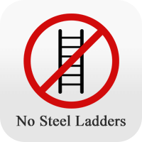 no steel ladders icon