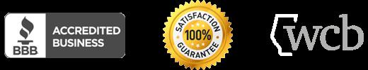 wcb, bbb, customer satisfaction logo