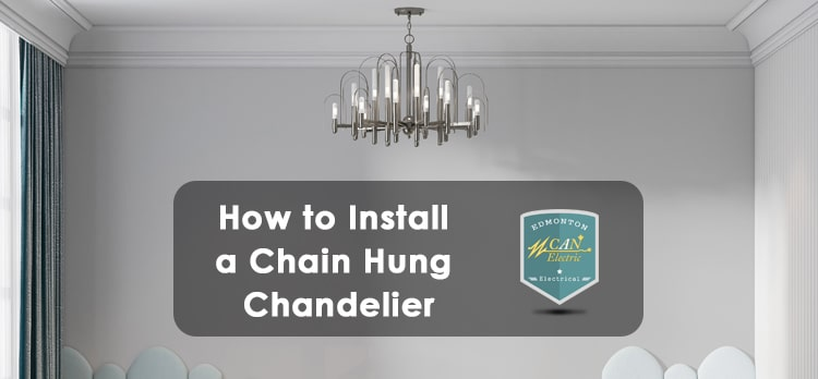 how to install a chain hung chandelier